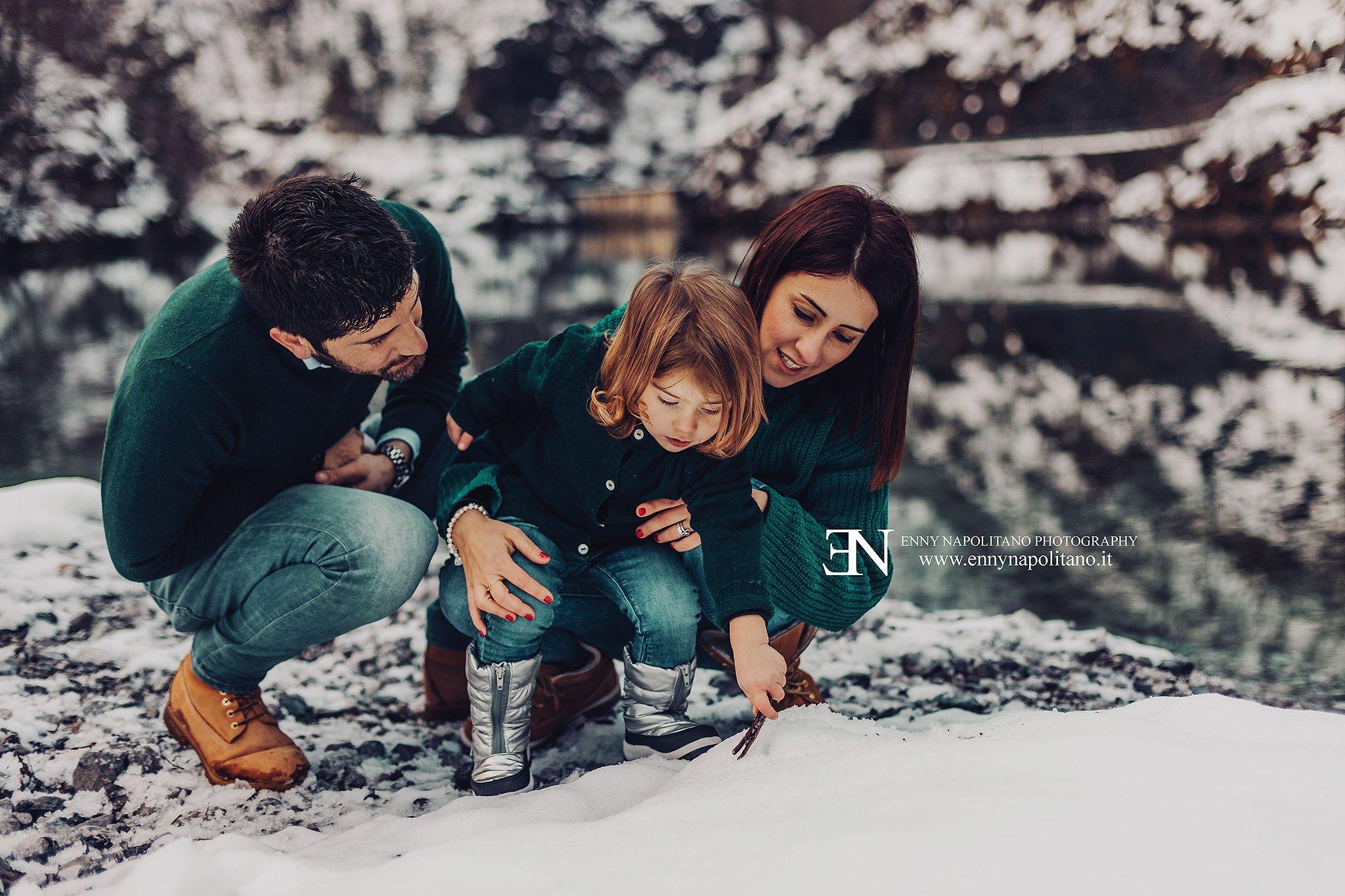 Sessione fotografica famiglia spontanea